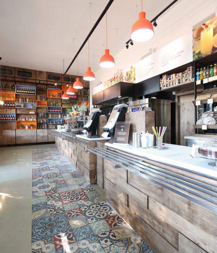 marrakesh cement tiles @ korzo restaurant, bratislava