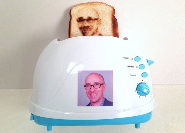 selfietoaster1. That's right a toaster that will put your selfie on toast.