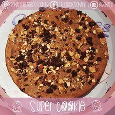 Recetas Fit Para Gente Común: Super fit cookie! Una galleta gigante y llena de sabor! :)
