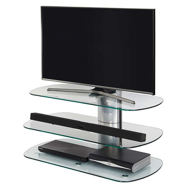 """BuyOff The Wall Skyline 1000 TV Stand For TVs Up To 55"""", Silver Online at johnlewis.com"""