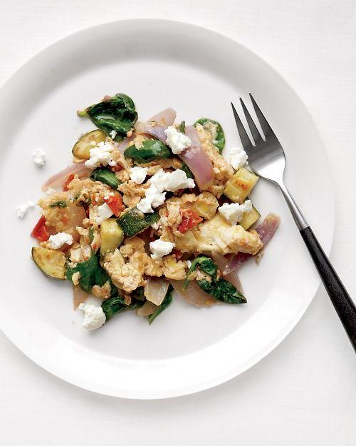 Vegetable Egg Scramble with Feta Recipe