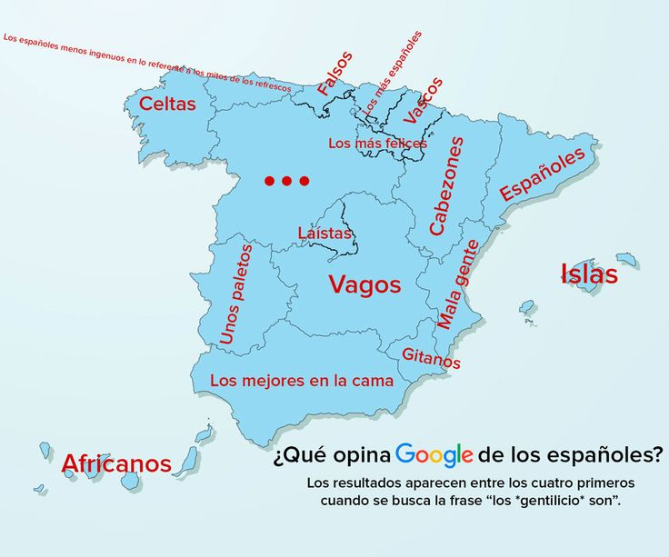 Así se nos ve, según Google. | Los 8 mapas que explican España