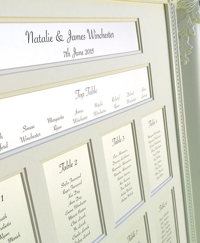 16 best Wedding Table Plans - Sheer Elegance images on Pinterest - wedding chart