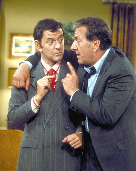"""Felix Unger & Oscar Madison   (Tony Randall & Jack Klugman)  The Odd Couple, ABC, 1970-1975   It was hard to get this far in the list and not call any of the duos an """"odd couple."""" Of course so many TV duos owe everything they have to Felix and Oscar. One is neat and compulsive while the other is messy and leads an unscheduled life. Their differences made them great, but their relationship could never be duplicated."""