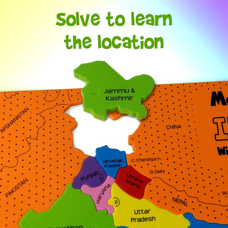 Increase your geographical knowledge by solving this puzzle and know the exact location of all the Indian States and Union Territories.  Here's the link to get one for your little genius: https://imagimake.com/collections/mapology/products/mapology-india-with-capitals