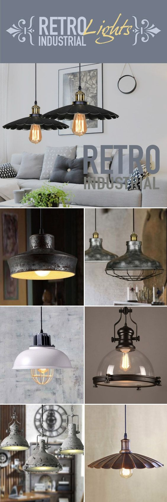 Light vintage danish furniture bathroom cabi lights on ideas for - It Is Well Known That Retro Industrial Pendant Lighting Is A Popular Way To