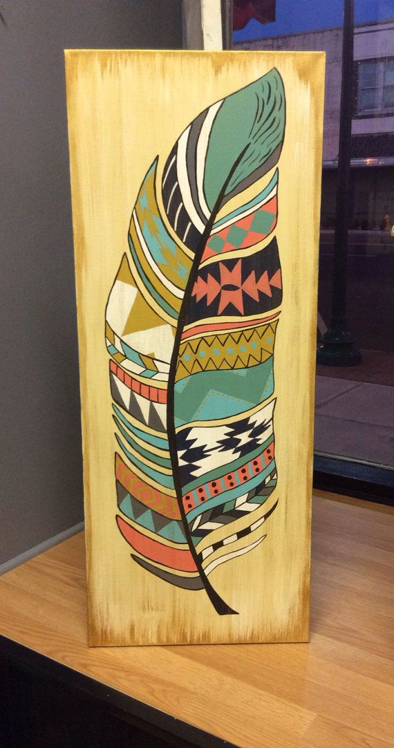 Tribal Feather Painting