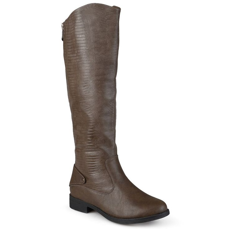 Journee Collection Sleek Women's Riding Boots, Size: 9.5 Wc, Brown