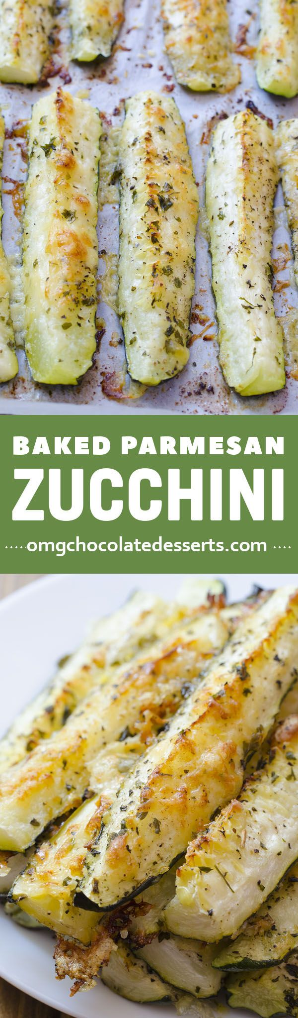 Baked Parmesan Zucchini is quick and easy recipe for delicious and healthy weeknight dinner side dish.