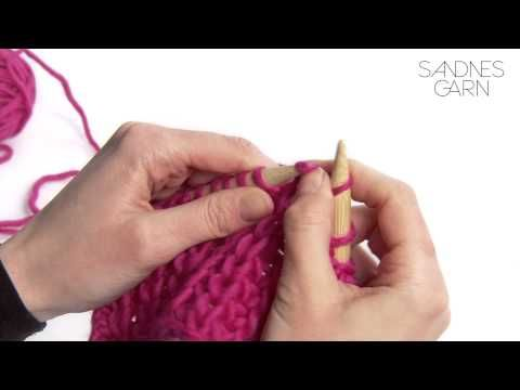 Sandnes Garn - Hvordan strikke halvpatent - YouTube