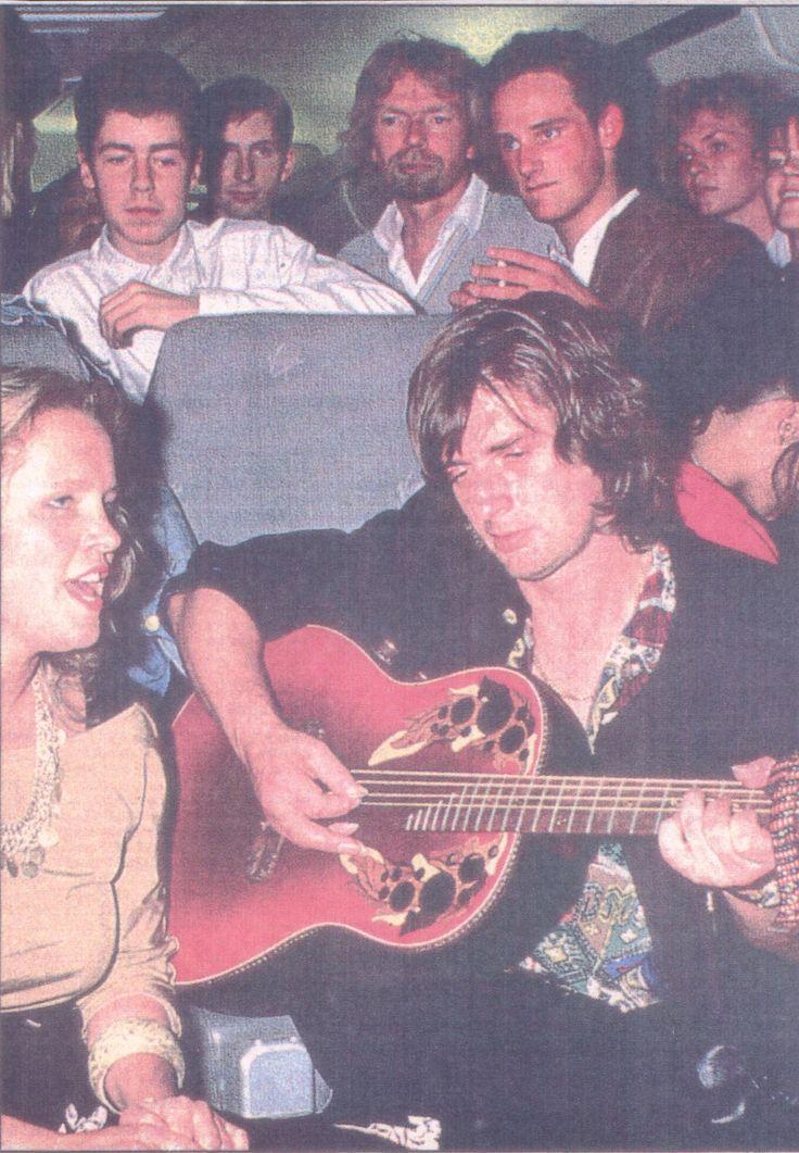 Mike with Anita Hegerland en Virgin Airlines