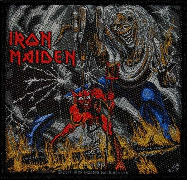 Iron Maiden The Number Of The Beast Woven Patch Ep652 Iron