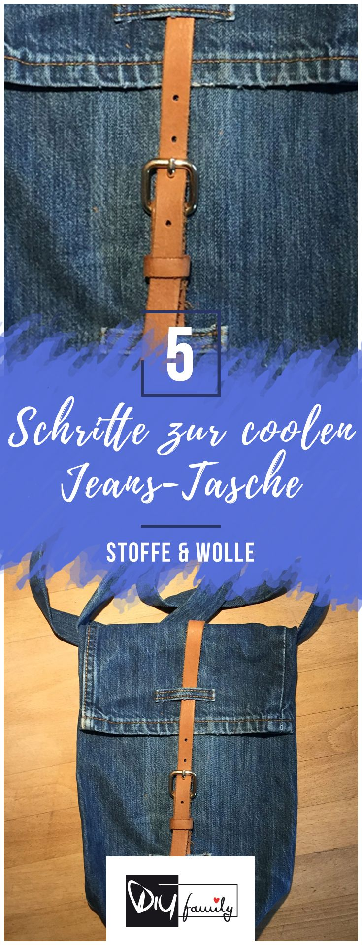 Coole Upcycling-Jeans-Tasche schnell genäht  #diy, #selfmade, #jeans, #bag, #creative, #tutorial, #easy, #recycling