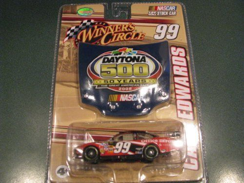 2008 Carl Edwards #99 Office Depot Ford 1/64 Scale Car & Daytona 500 50th Running Commemorative Magnet Hood Winners Circle by Winners Circle. $12.99. 2009 Carl Edwards #99 AFLAC Duck Ford Fusion 1/64 Scale Car & Daytona 500 51st Running Commemorative 1/24 Scale Magnet Hood Winners Circle. Hood and trunk DO NOT open. Front Splitter and Rear Wing. Limited Retail Distribution. 2009 Carl Edwards #99 AFLAC Duck Ford Fusion 1/64 Scale Car & Daytona 500 51st Running Commem...
