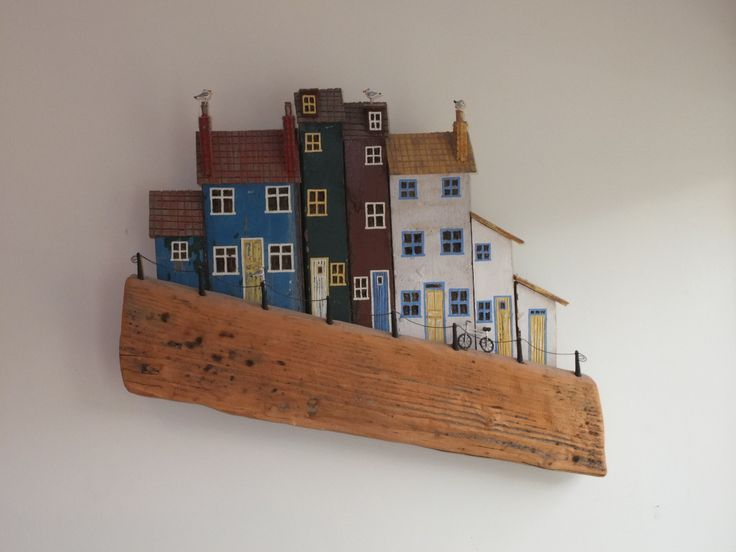 Houses and Bicycle  by Jo Perry