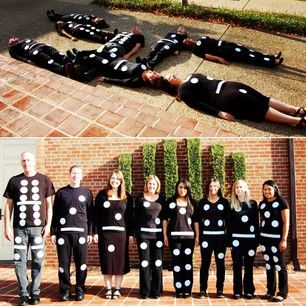 My co-workers and I are BuzzFeed-famous!  Dominoes | 31 Rad Group Costume Ideas To Steal This Halloween