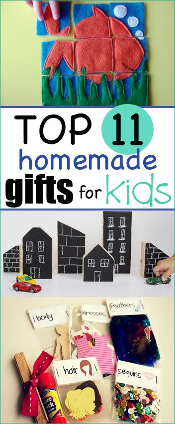Top 11 Homemade Christmas Gifts for Kids.  Crafty gifts for boys and girls.  Christmas gifts for kids that won't break the bank.