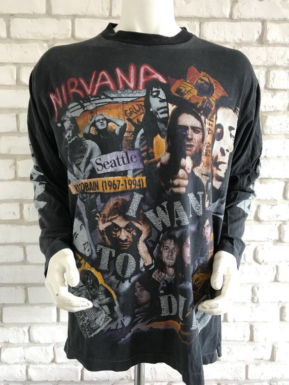 4e041396d5ad5 Pin by The Rock Chick Closet on Vintage NIRVANA T-shirts in 2019 | Vintage nirvana  t shirt, Nirvana shirt, Nirvana