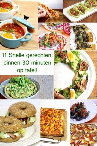 11 Snelle gerechten: binnen 30 minuten op tafel! Jamie Oliver, eat your heart out! ;)