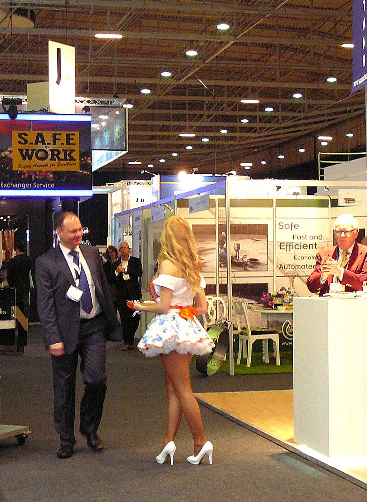 Foreign hostess at StocExpo
