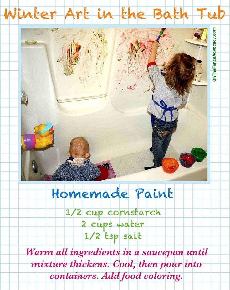 Paint recipe for some bath tub fun.
