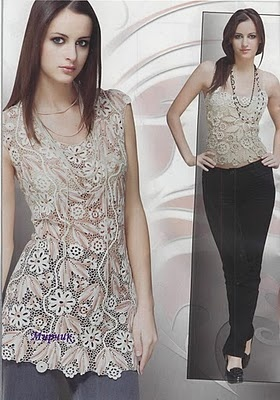 heirloom Irish Lace tunic !