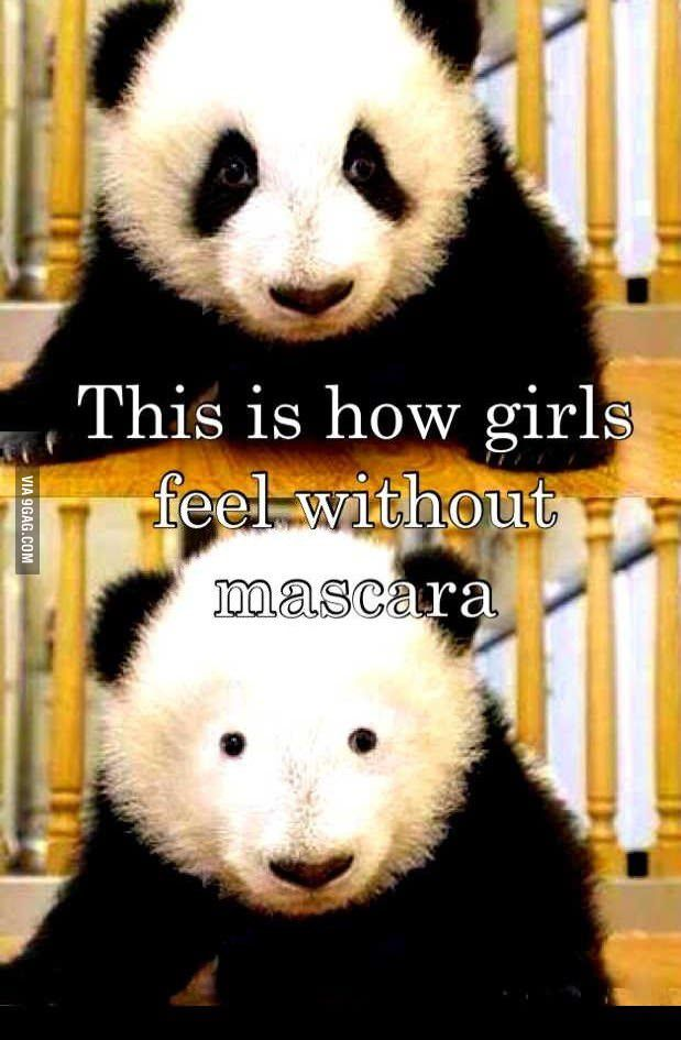 This is how girls feel without mascara