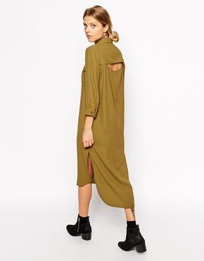 ASOS Shirt Dress with Drape Back