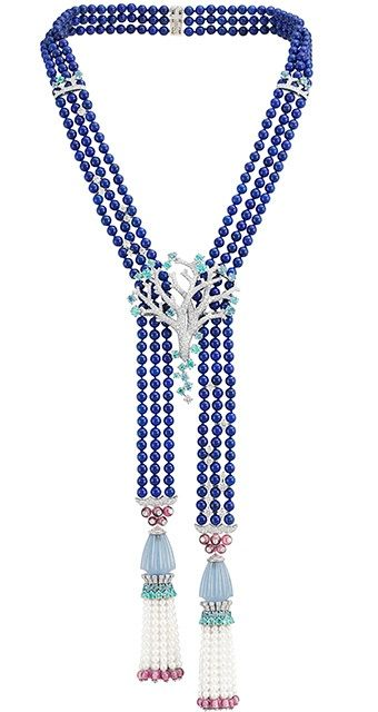 Van Cleef & Arpels Treasure of the sea long necklace, Le Poisson doré ballet, Ballet Précieux collection