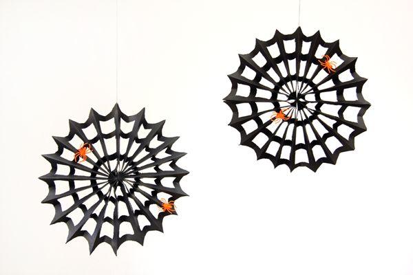 DIY Spiderweb Pinwheels