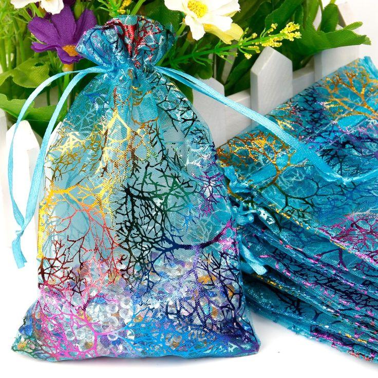 Fengrise 100 шт. 10x12 см подарок ювелирных изделий из органзы сумки свадебной конфеты Чехлы дома украшение партии корабли пакет праздничные поставки купить на AliExpress