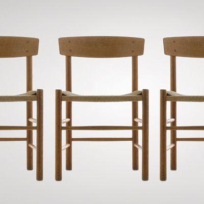 Børge Mogensen: FDB Chair, Oak and papercord