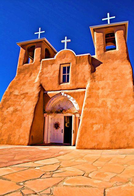 San Francisco de Asis in Ranchos de Taos NM by Charles Mühle - Taos