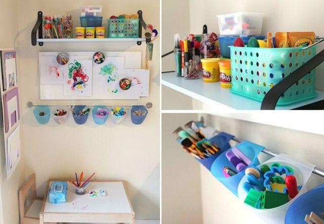 Organiser un coin activités manuelles dans une chambre d'enfant | PLUMETIS, le blog