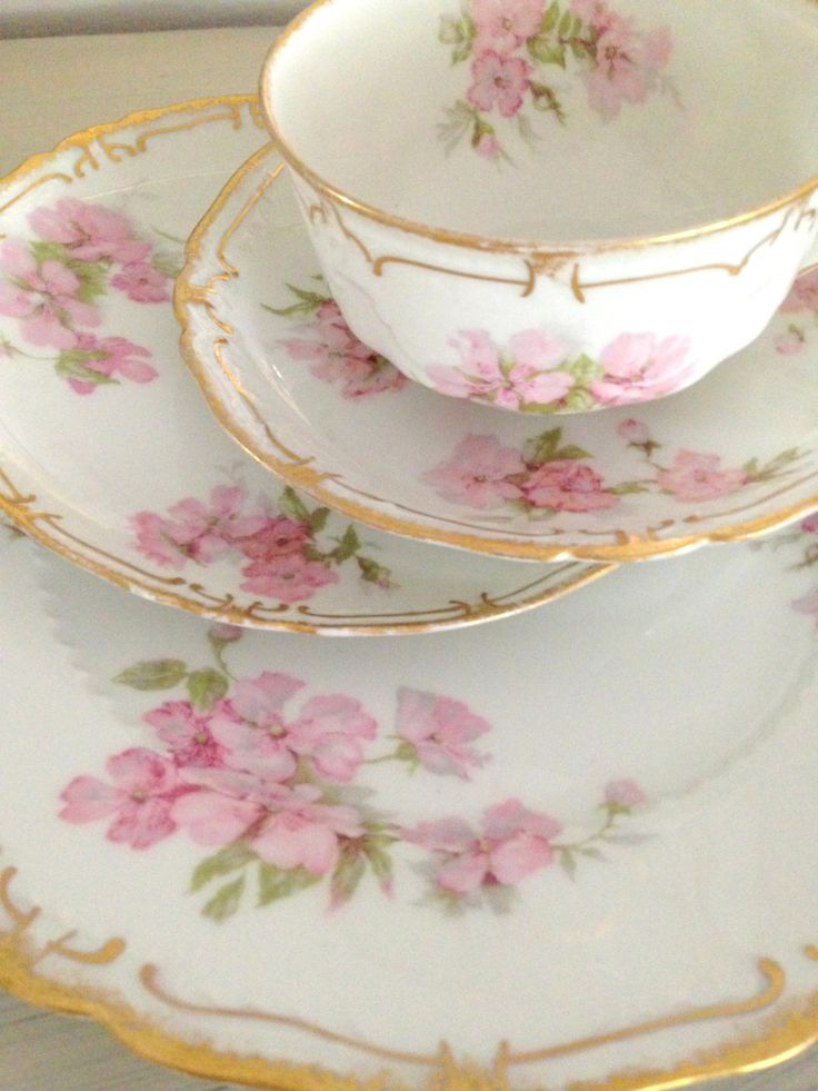 Antique French Porcelain China Haviland & Co. by MariasFarmhouse