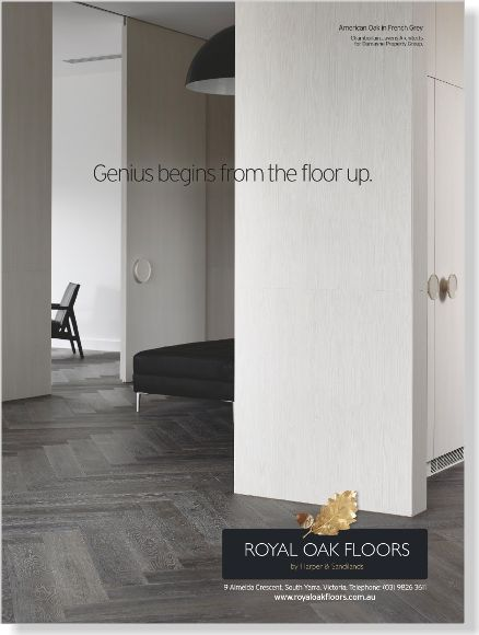Royal Oak Floors. Clipped from Home Beautiful using Netpage. www.royaloakfloors.com.au