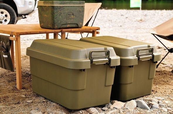 道具を全部箱に詰めてキャンプ場で(ドン)、撤収はそのままトランクにのせ帰宅後は倉庫に(ドン) 道...