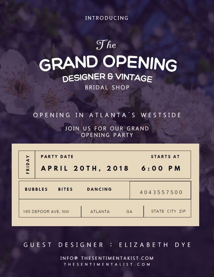 Vintage Small Business Grand Opening Event Flyer Poster Social Media Template Grand Opening Flyer Grand Opening Soft Opening Poster