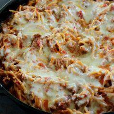 Skillet Espaguetis al horno - Buena Cena mamá