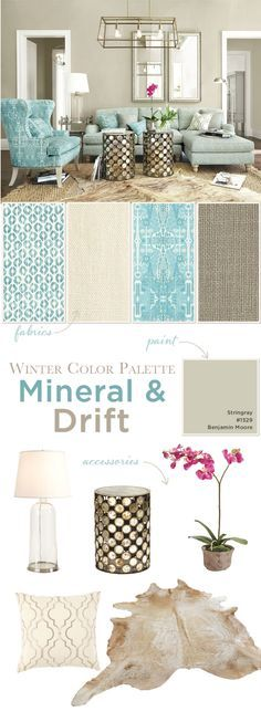 This Winters collection was very obviously inspired by icy blue likes mineral and aqua. Tempered by lots of taupes and grays, a few jolts...