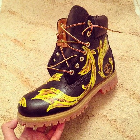 how to get paint off timberland boots