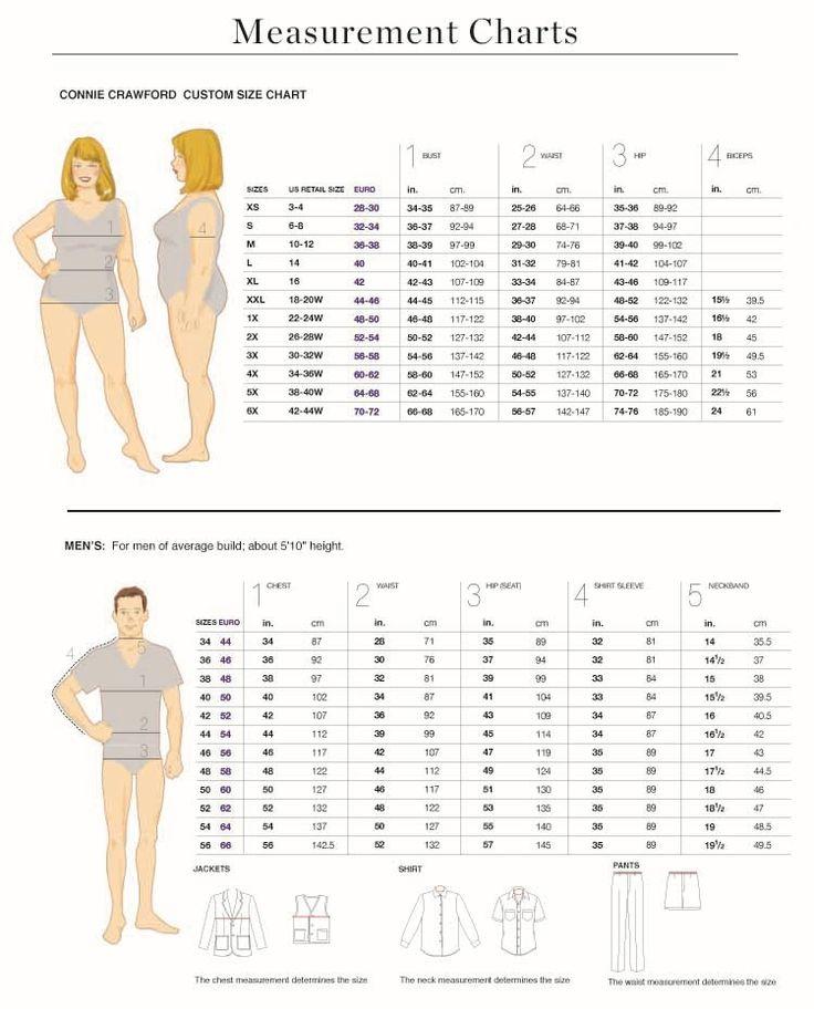 Size Charts (Metric)