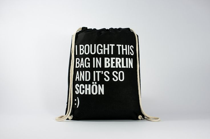 The nicest backpack that you can buy in Berlin - Find it here: http://www.officineberlinesi.com/shop/classic-gymsacks/bought-bag-gymsack-black/  #backpack #bag #canvasbag #canvastote #beutel #sac #rucksack #mochila #handmade #sacfourre-tout #screenprinting #taschen  #berlin #funny #nice