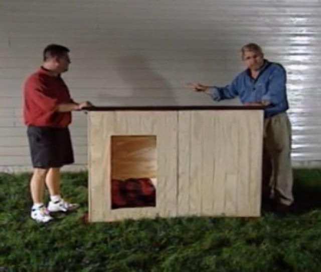 Build a Dog House with One of These 15 Free Plans: Custom Insulated Dog House Plan by Ron Hazelton