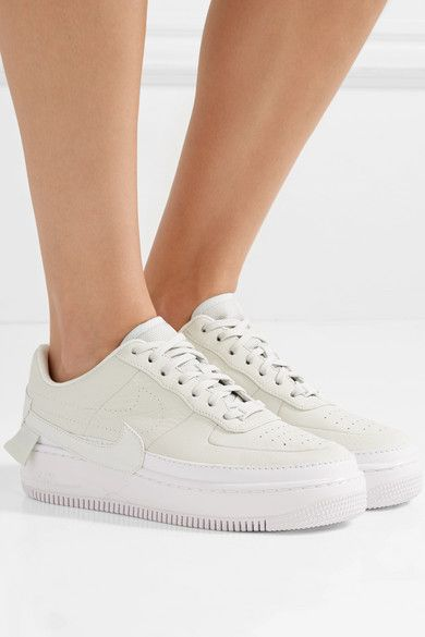 Nike - The 1 s Reimagined Air Force 1 Jester Xx Textured-leather Platform  Sneakers - Off-white f26caa89d