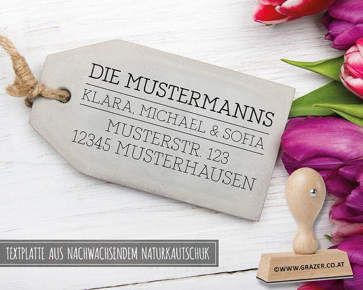 Adressstempel - Adressstempel | Familienstempel | 46 - ein Designerstück von Dr_Grazer_und_Co bei DaWanda