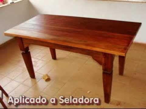 Revitação de móvel - Mesa de madeira - YouTube