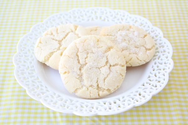 Lemon Sugar Cookie Recipe on twopeasandtheirpod.com Soft and chewy with a refreshing lemon flavor!