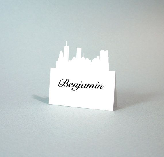 Boston - Wedding Place Cards - Place Card - City Skyline - PlaceCard - Place Cards - Escort - Rustic Wedding - set of 100