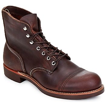 Boots+Red+Wing+IRON+RANGER+Marron+299.00+€